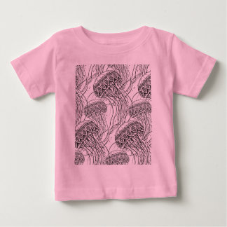 Jelly Fish Doodle Baby T-Shirt