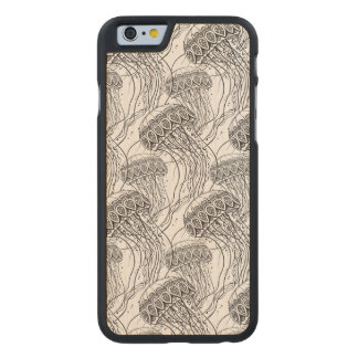 Jelly Fish Doodle Carved Maple iPhone 6 Case