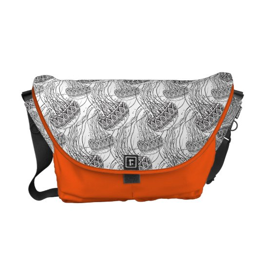 Jelly Fish Doodle Messenger Bags