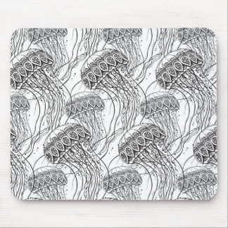 Jelly Fish Doodle Mouse Mat