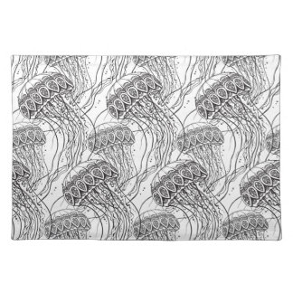 Jelly Fish Doodle Placemat