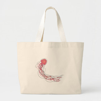 Jelly Fish Large Tote Bag