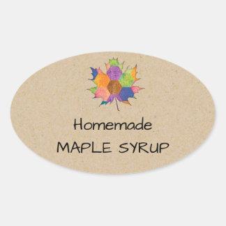 Jelly Jar Homemade Maple Syrup Sticker