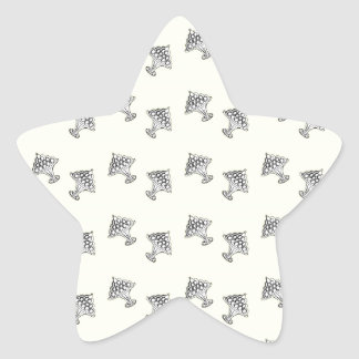 jelly on a plate star sticker