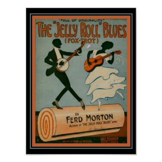 """""""Jelly Roll Blues"""" Fox Trot Sheet Music Cover"""