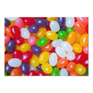Jellybeans Background - Easter Jelly Beans 9 Cm X 13 Cm Invitation Card