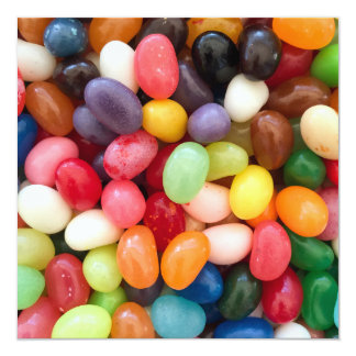 Jellybeans Easter Jellybean Background Jelly Beans 13 Cm X 13 Cm Square Invitation Card