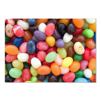 Jellybeans Easter Jellybean Background Jelly Beans 9 Cm X 13 Cm Invitation Card