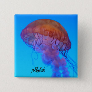 Jellyfish 15 Cm Square Badge
