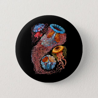 Jellyfish 6 Cm Round Badge
