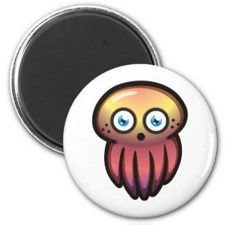 JellyFish 6 Cm Round Magnet