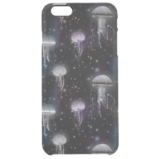 Jellyfish By Night Clear iPhone 6 Plus Case