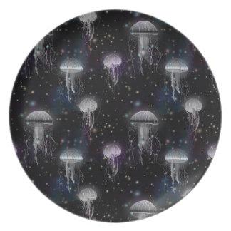 Jellyfish By Night Plate