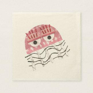 Jellyfish Comb Ecru Napkins Disposable Napkins