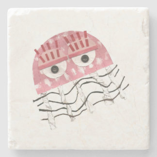 Jellyfish Comb Marble Coaster
