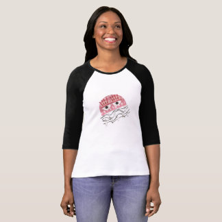 Jellyfish Comb No Background Women's Raglan Top