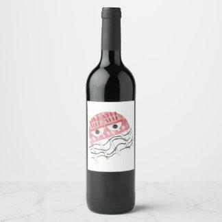 Jellyfish Comb Wine Bottle Label