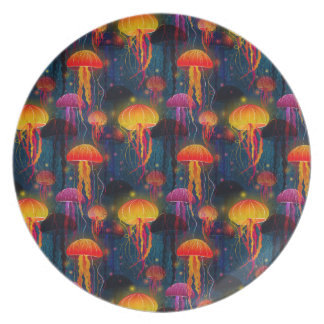 Jellyfish Dance Party Plate