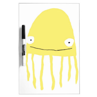 Jellyfish Dry Erase Board in Yellow