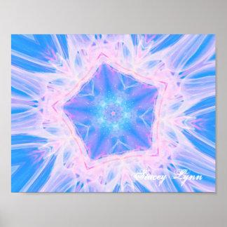 Jellyfish Fractal Poster
