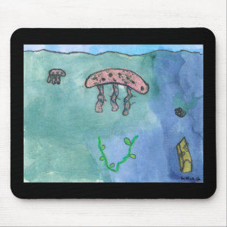 Jellyfish in the Sea by lil kolohe Nick Mouse Pad