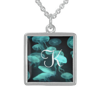 Jellyfish Initial Pendant