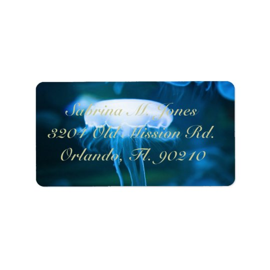 jellyfish jelly fish address label