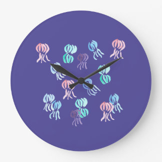 Jellyfish Large Round Wall Clock