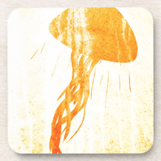 Jellyfish Light Illustration Art Drink Coasters