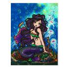 Jellyfish Mermaid Fantasy Marine Art Postcard
