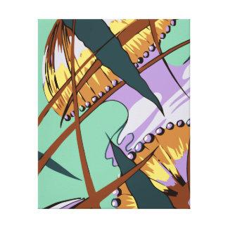 Jellyfish, modern abstract art deco canvas print