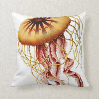 Jellyfish Nautical Beach Decorative Throw Pillow
