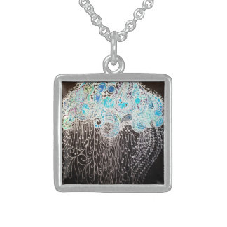 Jellyfish Square Pendant Necklace