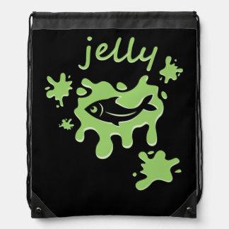 Jellyfish - Neon Green - Drawstring Bag