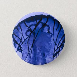 Jellyfish on Blue 6 Cm Round Badge