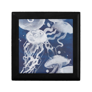 Jellyfish on Navy Background Gift Box