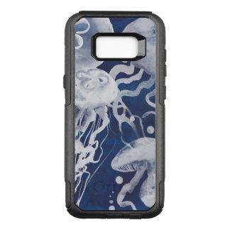 Jellyfish on Navy Background OtterBox Commuter Samsung Galaxy S8+ Case
