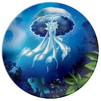 Jellyfish Porcelain Plates