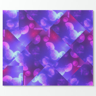 Jellyfish quilt wrapping paper