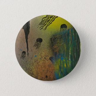 Jellyfish rising 6 cm round badge