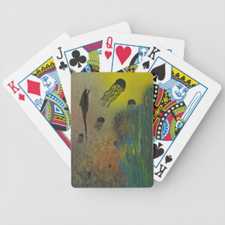Jellyfish rising bicycle playing cards