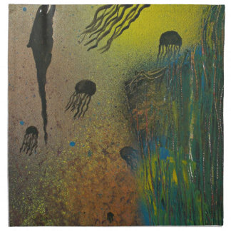 Jellyfish rising napkin