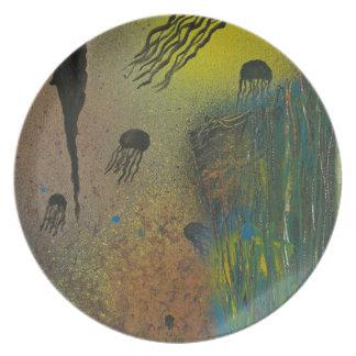 Jellyfish rising plate