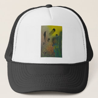 Jellyfish rising trucker hat