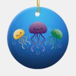 Jellyfish Round Ceramic Decoration