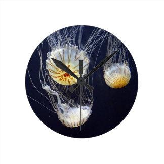 Jellyfish Round Clock