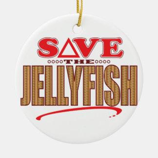 Jellyfish Save Christmas Ornament