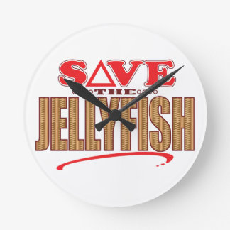 Jellyfish Save Round Clock
