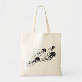 Jellyfish Silhouettes tote bag