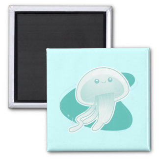 Jellyfish Square Magnet